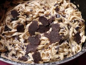 Tagliatelles sauce aux truffes